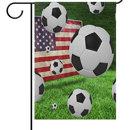 ShineSnow Soccer Garden Flag 12 x 18, World Cup Decorations