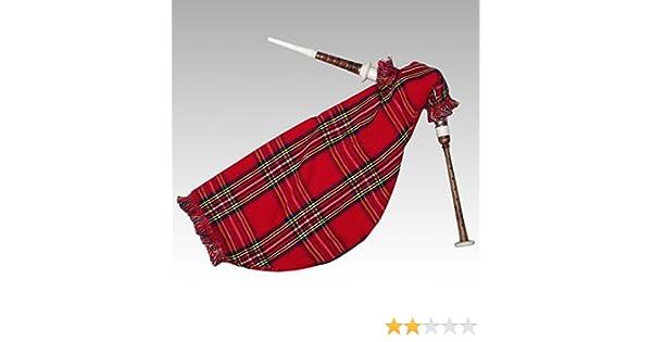 Práctica de ganso escocés gaita negro imitación de marfil Mounts Royal Stewart bolsa: Amazon.es: Instrumentos musicales