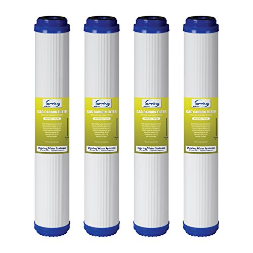 iSpring 20X2.5 Whole House Water Filter GAC Carbon Granular Activated - Pack of 4