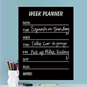 Karnotech® Week Planner Chalkboard Wall Kitchen Refrigerator Decal Blackboard Kid Plan Schedule Sticker 17.7 X 23.6 in