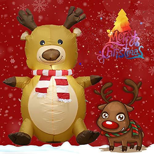 LtrottedJ Christmas Christmas Elk Deer Inflatable Model Decoration Venue Layout Props Toys -