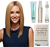 GET THE LOOK - Jon Renau Gwyneth Exclusive Remy Human Hair Wig, 15 Page Christy's Wigs Q & A Booklet, Argan Mist, Blow Away & Heat Treat Thermal Spray -Color 14/26S10
