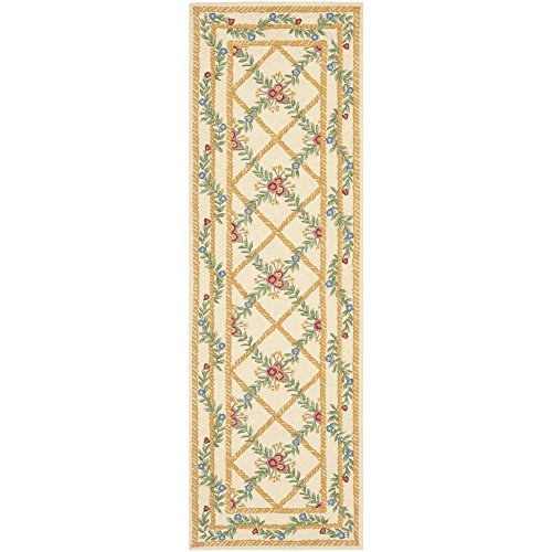 Safavieh Chelsea Collection HK62A Hand-Hooked Ivory Premium Wool Runner (2'6