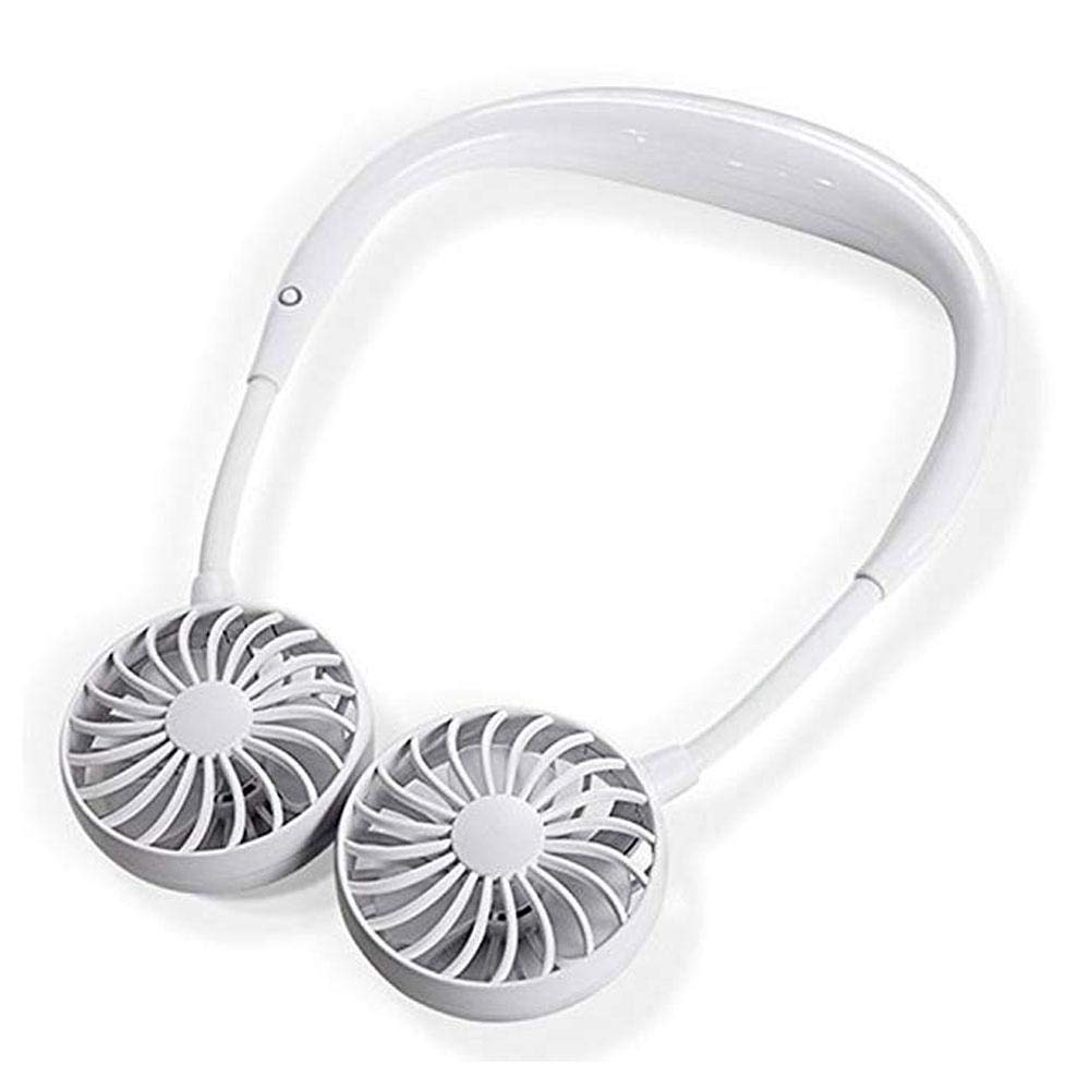 Leegoal Hands-Free Neckband Fan Neckband Cooling Fan Portable Neckband Fan with USB Rechargeable for Traveling Outdoor Office