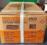 S4-2'' (1/2'' CROWN) 16 GA. GALV. CONSTRUCTION STAPLES 10,000/Case