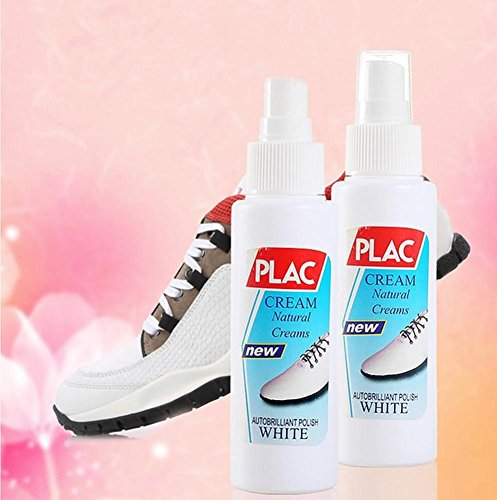 (Ugood 75ml Sports Leather Canvas Whitener Cleaner Shoe Trainer Boot Clean White (White) )