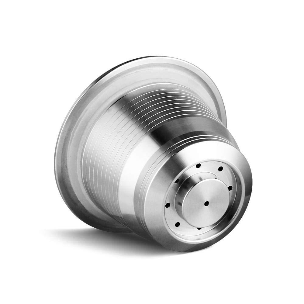 Hamkaw C/ápsula de caf/é Reutilizable Repuesto de Acero Inoxidable para c/ápsulas de caf/é rellenables Accesorios compatibles con Nespresso U//CitiZ//Pixie//Le Cube//Maestria//Lattissima//Inissia//Concept