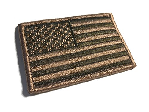 (3 X 2 Inch Coyote Brown Spice US Made American Patriotic Flag Durable USA Morale Uniform Patch (Empire Tactical)