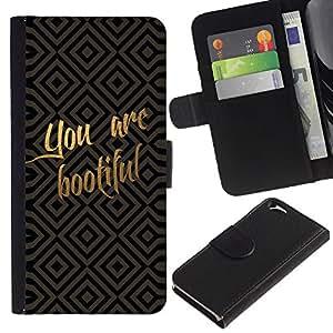 KingStore / Leather Etui en cuir / Apple Iphone 6 / Divertido usted es hermoso