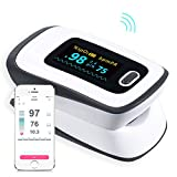 Bluetooth Fingertip Pulse Oximeter heart Rate Monitor for IOS and Android