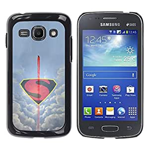 CASEMAX Slim Hard Case Cover Armor Shell FOR Samsung Galaxy Ace 3- MINIMALIST FLYING S SUPERHERO