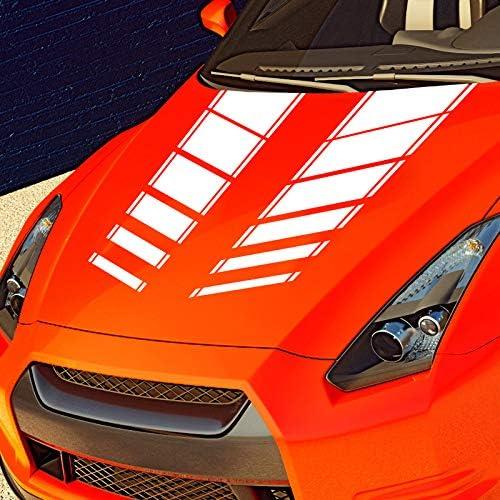 Auto Aufkleber Motorhaube Viper Streifen Rennstreifen Rallystreifen Viperstreifen Racing Rallye Tuning Autoaufkleber Silber Met 090 Auto