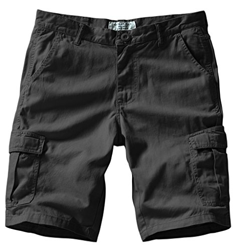 Match Men's Retro Cargo Summer Shorts (Label size 2XL/36 (US 34),3048 Dark gray)