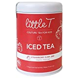 LITTLE T Strawberry Is My Jam Organic Fruit Iced Tea for Kids. Sugar-free, Caffeine-free, Antioxidant-rich, Hydrating Herbal Iced Tea Sachets (Iced Tea Tin [makes 16 servings])