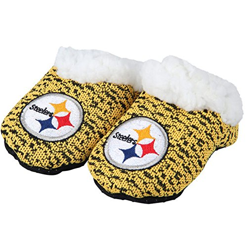 - Forever Collectibles FOCO NFL Infant Knit Baby Bootie Shoe (Pittsburgh Steelers, Medium (3-6M))
