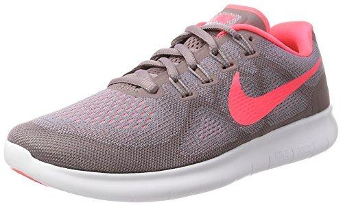 Nike Women's Free RN 2017 Running Shoe Provence Purple/Hot Punch-Taupe Grey 6.5
