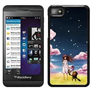 Beautiful Designed Cover Case For Blackberry Z10 With Clannad Ushio Black Phone Case