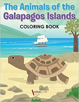 Book The Animals of the Galapagos Islands Coloring Book