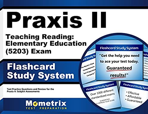 praxis ii teaching reading elementary education 5203 exam rh amazon com Avery 5203 Template for Word Mori Lee 5203