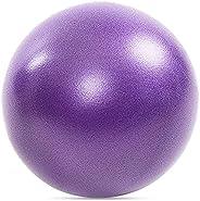 Small Exercise Ball, Pilates Ball 25cm/9 Inch Small Workout Ball Anti-Burst Fitness Balance Ball for Gym, Offi