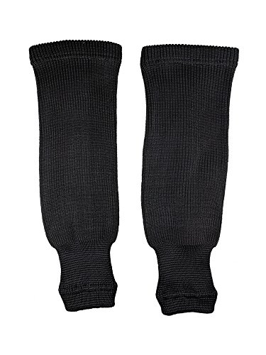 "Pear Sox Pro Weight Solid Color Hockey Socks, Black, Size Youth (22""-24"")"