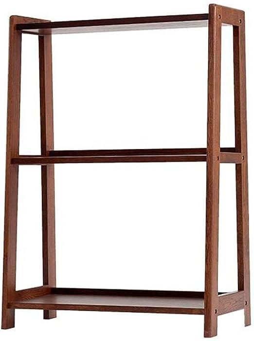 Jcnfa-Estante Estante para Libros Roble Blanco Estante para Libros De Escalera Inclinada Almacenamiento De Pantalla Estantería De Pared para Rack Oficina De Sala: Amazon.es: Hogar
