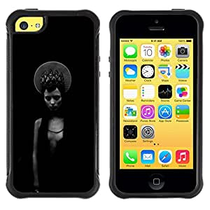 "Hypernova Defender Series TPU protection Cas Case Coque pour Apple iPhone 5C [Negro Chica místico oscuro Moda""]"