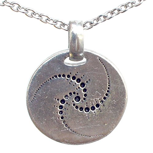 Crop Circle Formation Symbol UFO ALIEN Charm Amulet Pewter Pendant (Stainless Steel Chain) (Crop Infinity)