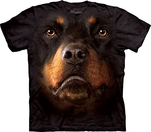 The Mountain Rottweiler Face T-Shirt, 4X-Large, Black