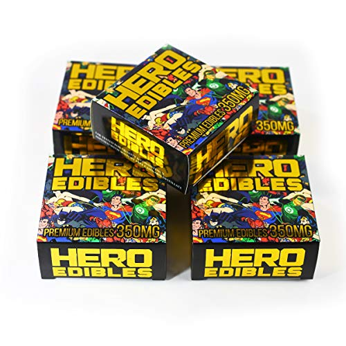 EMPTY Hero Edibles Snacks Display Boxes Packaging for Edibles 3 x 3