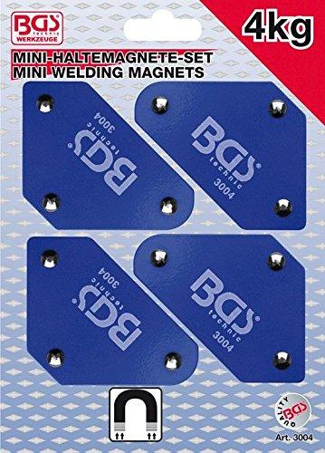 BGS 3004 Mini Magnetic Holder Set 45°-90°-135° 4-Pieces, Blue BGS technic KG