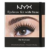 Image of NYX Cosmetics Eyebrow Kit Set With Stencil, 0.7 Oz