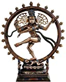Craftghar God Shiva Idol in Dancing Natraj Bonded Bronze 10 Inches Murti Home Décor Gift | Ideal Diwali Gifts for Friends and Family
