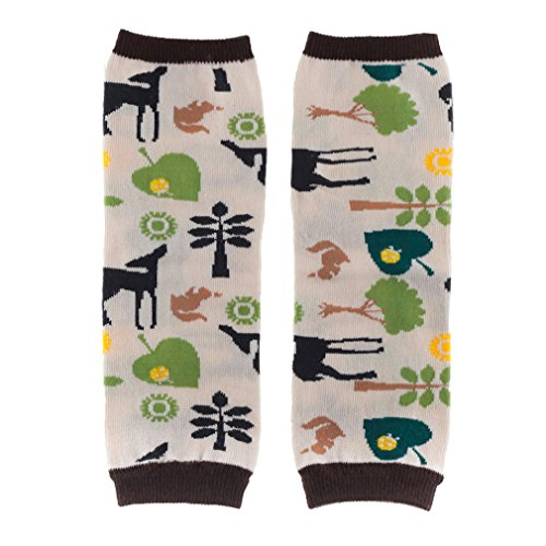 Huggalugs Baby Boys and Girls Deer Squirrel Forest Leg Warmers (Baby -fits Newborn to 6 Months, Forest ()