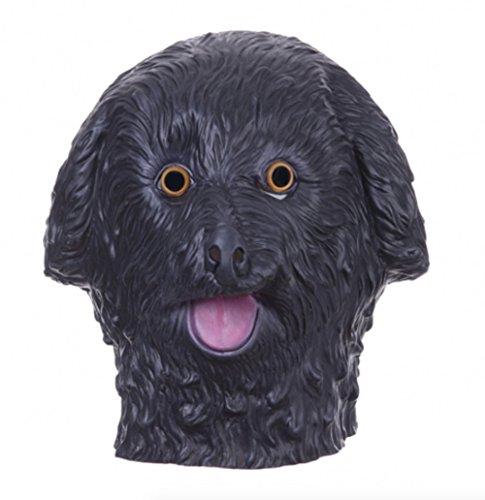 Freaky Couples Halloween Costumes (Halloween Masks Animal Dog Latex Mask Full Face (Black))