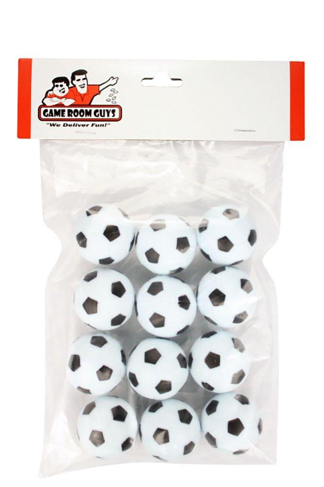 Game Room Guys Set of 12 Soccer Ball Style Foosballs for Tornado Dynamo or Shelti Tables