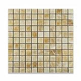 #5: Honey Onyx 1 X 1 Polished Premium Mosaic Tile on Mesh (6