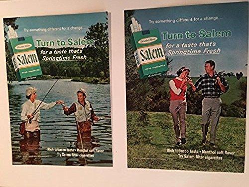 1965 Salem Springtime Fresh Cigarette Magazine Print Advertisement Lot of 3