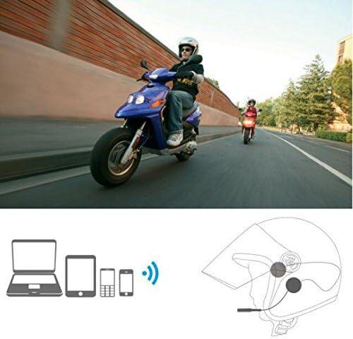 B Baosity Kit De Manos Libres Para Bluetooth 4.0 Control De Llamadas Con Auriculares De Motocicleta Incluido