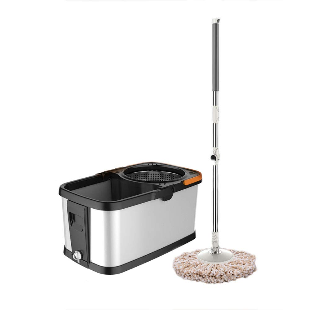 LJHA tuoba 手洗いせずに家庭を自動的に回転させるモップステンレススチール水の乾燥と湿式モップ (サイズ さいず : C) B07HJ12NPB  C