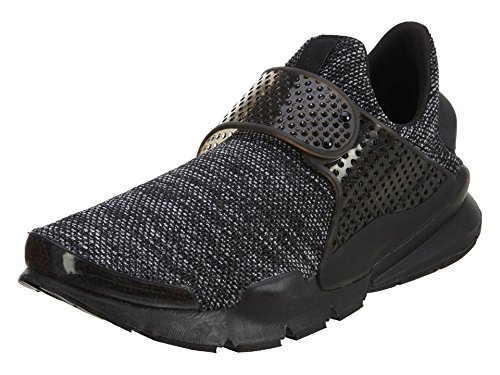 NIKE Men's Sock Dart BR Black/Black/Black Running Shoe 8 Men US (Shoes Laceless Nike)