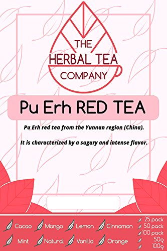 Prickly Pear Pu Erh Red Tea Blend Tea Bags With Natural Flavour 25 Pack