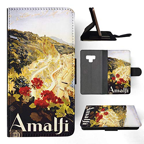 Italy Amalfi Drawing Art Flip Leather Phone Case Cover for Samsung Galaxy Note 9