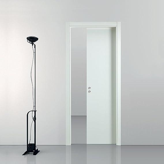 Busatti - Original. Puerta corredera de madera de color blanco. Varios tamaños disponibles: Amazon.es: Bricolaje y herramientas