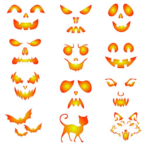 Halloween Coffee Set Stencil - 12 Designs -