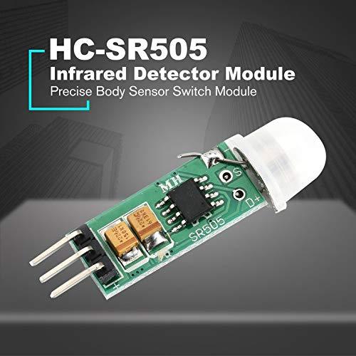 HC-SR505 Mini Sensor de Movimiento por Infrarrojos para Sensor de Cuerpo Arduino Color Verde