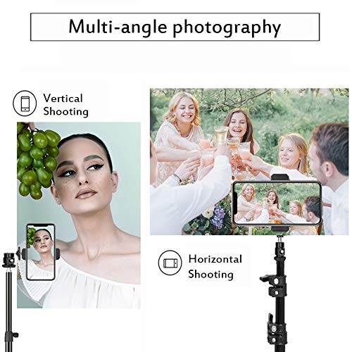ZOMEi Smartphone Tripod, Adjustable Phone Stand Aluminum Camera Travel Tripod with Ball Head and Phone Holder for Photography, YouTube Videos, Compatible with Smartphones Cameras and LED Ring Light