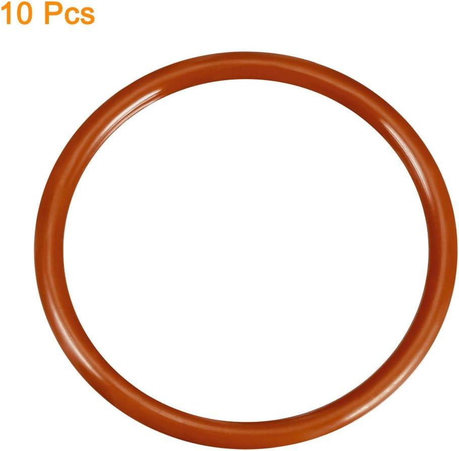 sourcing map Silicone O-ring 38mmx31mmx3.5mm VMQ anelli tenuta guarnizione rosso 10pz