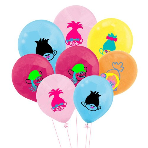 Merchant Medley 25 Count Trolls Inspired Balloon Pack