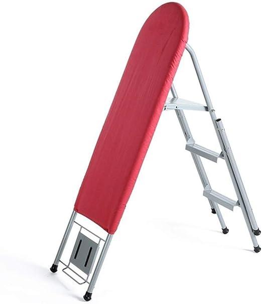 AJZXHE Tabla de Planchar Tabla de Planchar, Tabla de Planchar Plegable de Doble función con Tabla de Planchar de Escalera de 3 escalones Tabla de Planchar Plegable: Amazon.es: Hogar